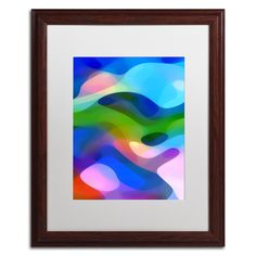 'Dappled Light 8 Blue' by Amy Vangsgard Framed Graphic Art