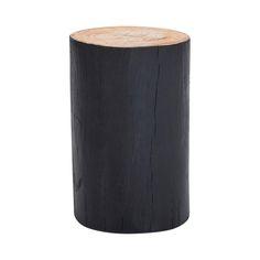 Designer Black Log Stool   Timber/Wooden Stool/Side Table/ End Table. Log  StoolsLiving Room ...