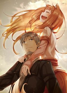Spice and Wolf- For fans of the light novels, anime, and manga Anime Wolf, Anime Neko, Anime Manga, Anime Naruto, Spice And Wolf Holo, Fanart, Wolf Girl, Anime Animals, Light Novel