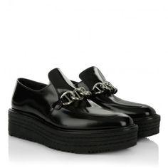 Prada Sneakers – Slip On With Chain Detail Black – in schwarz – Sneakers für Damen
