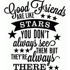 Silhouet Design Store - Bekijk Ontwerp # 56292: De goede vrienden zijn als sterren