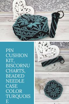 $60.00 Pin cushion kit, biscornu charts, beaded needle case. Homemade Christmas Gifts, Homemade Gifts, Barbie Clothes, Barbie Dolls, Unique Gifts, Best Gifts, Needle Case, Your Best Friend, Pin Cushions