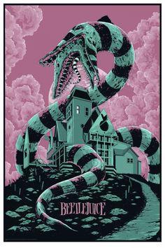 Exclusive: Ken Taylor's BEETLEJUICE Mondo Poster