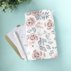 Excited to share the latest addition to my #etsy shop: Midori travellers notebook cover https://etsy.me/2GJxmRk #booksandzines #journal #white #pink #midori #travellersnotebook #midoriinsert #midoricover #midoricharm
