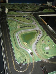 Pembrey slot car rally stage overall view