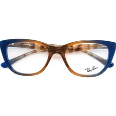 Ray-Ban Cat Eye Frame Glasses ($173) ❤ liked on Polyvore featuring accessories, eyewear, eyeglasses, brown, tortoiseshell cat eye glasses, tortoiseshell glasses, tortoise glasses, cat eye eyeglasses and tortoise shell cat eye glasses