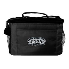 Kolder San Antonio Spurs 6-Pack Insulated Cooler Bag, Black