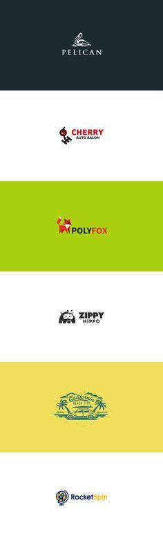 2016 logo collection #logo #2016 #design #brand #identity #vector #mark #creative #kreatank #emblem #cute #creatank #pelican #cherry #auto #car #service #fox #hippo #California #beach #palm #trees retro #vintage #rocket