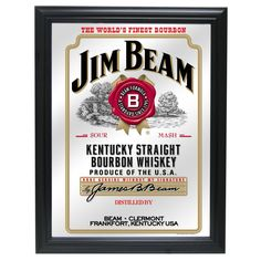 Jim Beam White Label Bourbon Logo Bar Man Cave Tin Sign