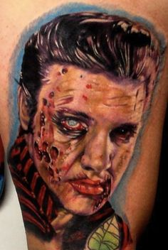 zombie Elvis by Ron Russo, Wilkes-Barre Pa, USA | zombie tattoos