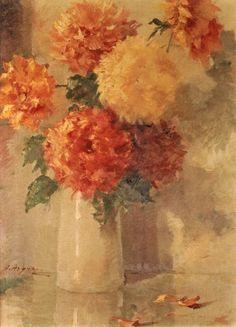 Αργυρός Ουμβέρτος-Νεκρή φύση με λουλούδια σε βάζο