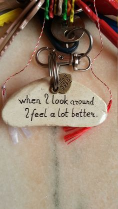 Stupid Quote Stone Keychain Funny Motivational by LivingPebble