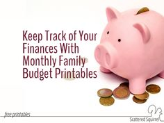 Use these handy monthly budget printables to track your income, expenses, and savings throughout the year and see at a glance how you're doing financially.