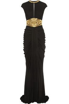 Alexander McQueen Embellished stretch-jersey gown | THE OUTNET