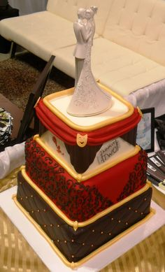 - *  Theater themed wedding cake I did for the Southern Bridal Show in Charleston, SC. While at Abbie's Bakery of Summerville, Sc. August 2012