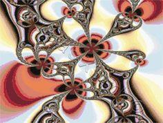 Fractal No4 cross stitch | Yiotas XStitch