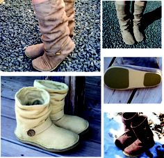 Women's Slouchy Boots pattern with directions for making pattern wider - love these!  I might actually try sew again.  Or better yet, get my good friend Teresa to make them for me. ;)