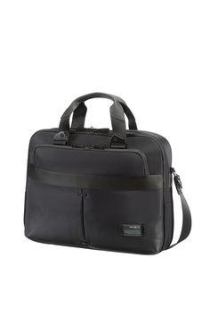 "CityVibe Jet Black Slim Bailhandle 16"" #Samsonite #CityVibe #Travel #Suitcase #Luggage #Strong #Lightweight #MySamsonite #ByYourSide"