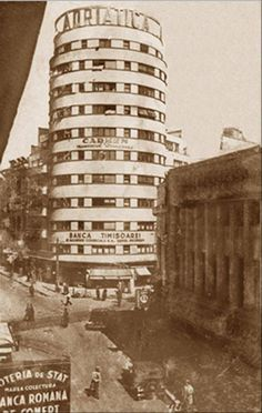 City Block/Adriatica/Tehnoimport (Bucureşti) Cylindrical tower block was designed in 1935 by architect H. Old Pictures, Old Photos, Little Paris, Bucharest Romania, Architecture Old, Old City, Time Travel, Places To Visit, City Block