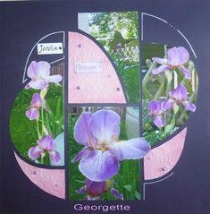 Je partage la page de Georgette aujourd'hui qui nous invite dans son joli jardin. Elle a découpé ses photos avec le gabarit souvenir. ... 4 Photos, Hui, Glass Vase, Decor, Template, Projects, Decoration, Decorating, Deco