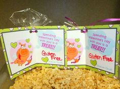 Gluten-free rice krispie treat Valentine
