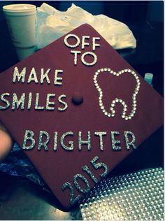 Graduation cap; dental hygiene #graduation #dentalhygiene #graduationcap #dentalhygienegraduationcap #graduationcapideas