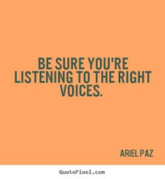 Don't let the wrong voices veer you off course.  #motivation #success #goals