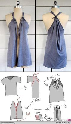 DIY Refashion Style-refresh your old clothes and give them a new style