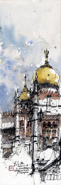 Sultan Mosque, Kampong Glam, Singapore | 20121110 | Chng Kiah Kiean