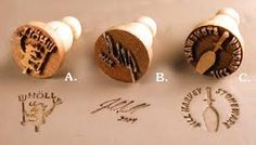 Image result for personalized clay stamp