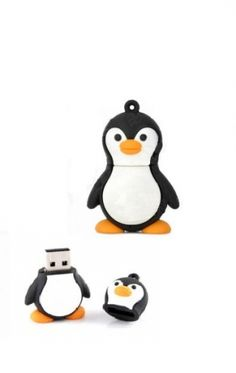 Memoria USB de 8 GB, con figura plástica de pingüino.Dimensiones:4 cm. x 5 cm. x 3 cm. aproximadamente....