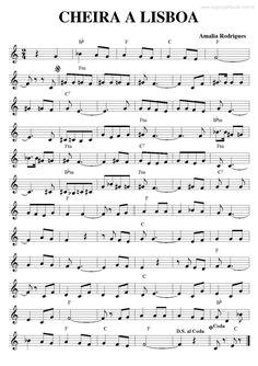 Super Partituras - Cheira a Lisboa (Amália Rodrigues), com cifra Piano Music, Sheet Music, Free Printable Birthday Invitations, Music Score, Instruments, Portuguese, Jazz, Songs, Portugal