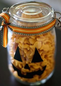 Cute Pumpkin Jars Tu