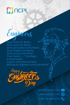 To the ones who construct our country's infrastructure, advance the technology, and build machinery with innovative ideas, #HappyEngineersDay2020