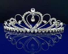 Rhinestones Crystal Wedding Bridal Prom Pageant Princess Costume Tiara Crown 42206 by SparklyCrystal