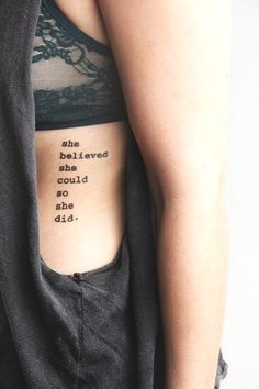 his New Year's quotes can be tattooed, if you are that kinda of girl...
