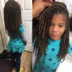 See this Instagram photo by @eeshabella25 • Children with locks. Kids with locks. Locs. Children's hair. Natural hair