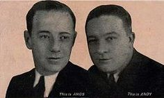 Freeman Gosden ('Amos') and Charles Correll ('Andy') in 1929.