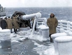 Stunning photos reveal the brutal conditions faced by sailors protecting Arctic Convoys Merchant Navy, Merchant Marine, Navy News, Royal Marines, Navy Ships, Black N White Images, Royal Navy, Battleship, World War Two
