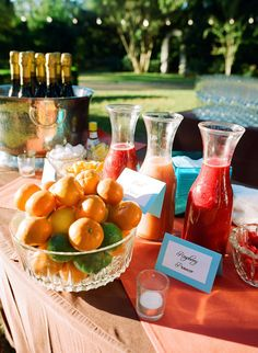 flavored mimosa bar! Brunch? If we have one... Maybe bridal shower
