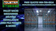 Pallet racks, mezzanines, wire decks, installation, delivery, high pile permits and more ! We do it all ! Contact us for a free quote ! Let us start on your order right away ! 909-793-5914 www.industrialstoragesolutionsinc.com