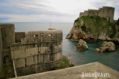the Old City walls in Dubrovnik, Croatia
