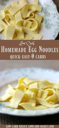 Easy low carb egg noodles - homemade pasta with 0 carbs that you can make in less than 10 minutes. Love this stuff! From Lowcarb-ology.com via @Marye at Restless Chipotle