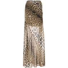 Saint Laurent leopard printed maxi skirt (€2.005) ❤ liked on Polyvore featuring skirts, brown, brown maxi skirt, maxi skirts, floor length skirt, brown skirt and leopard print skirt