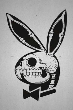 my kind of playboy bunny tattoo skull-139036742884ngk