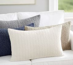 Bring in some texture with Honeycomb Lumbar Pillow Cover #potterybarn