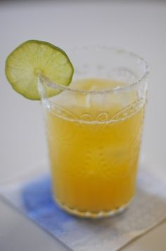 orange-lime margaritas