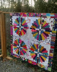 Alert! this is an eye candy post! I have a couple examples of quilts made with my Daisy pattern to share with you. I made this runner with the new fabrics, Sage, by Bari J. for Art Gallery Fabrics. It is such a new palette for me, slightly muted shades of jewel tones. The prints …