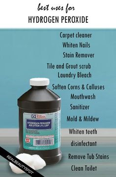 Top uses of Hydrogen Peroxide