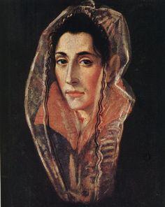El Greco Female Portrait , 1595 Oil on canvas  40 x 33 cm